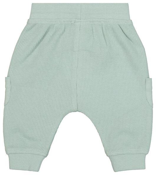 pantalon nouveau-né gaufré bleu bleu - 1000022309 - HEMA