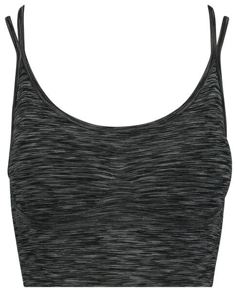 soutien-gorge de sport sans coutures gris chiné gris chiné - 1000020847 - HEMA