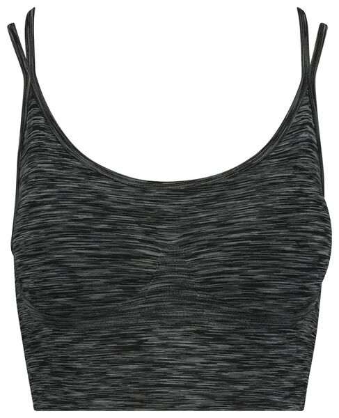women's sports bra grey melange grey melange - 1000018883 - hema