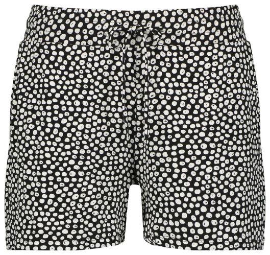 Hosen - HEMA Damen Shorts, Punkte Schwarz  - Onlineshop HEMA
