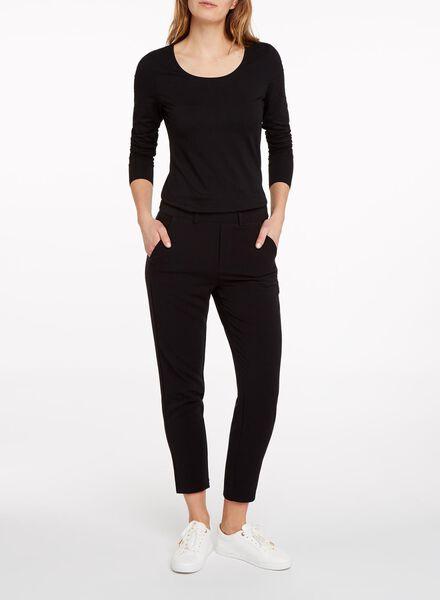 t-shirt femme noir noir - 1000005475 - HEMA