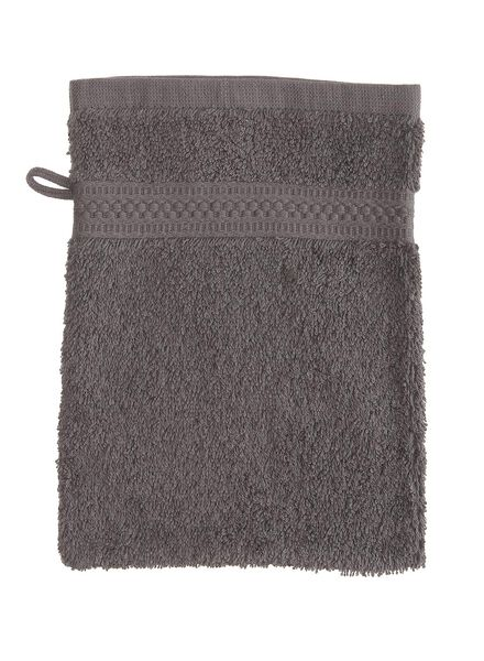 washandje zware kwaliteit 16 x 21 - donker grijs Grey dark washandje - 5232602 - HEMA