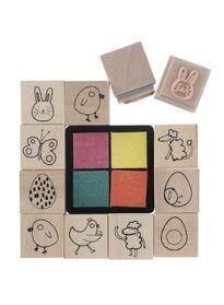 wooden stamp set - 25820130 - hema