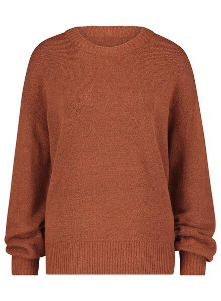 women's sweater brown brown - 1000017072 - hema