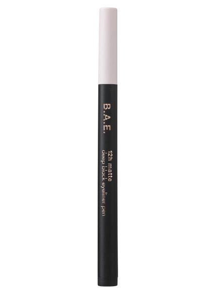 B.A.E. eyeliner pen deep black mat 12h - 17700020 - HEMA