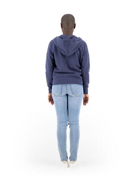 gilet sweat femme bleu foncé bleu foncé - 1000014818 - HEMA