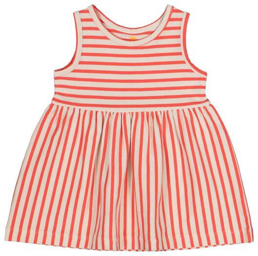 robe débardeur bébé fille - coton bio rouge rouge - 1000019718 - HEMA
