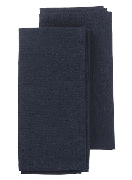 2-pack chambray serviettes 47 x 47 cm - 5300047 - hema