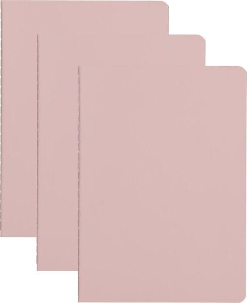 3er-Pack Hefte, DIN A5, liniert - 14130073 - HEMA