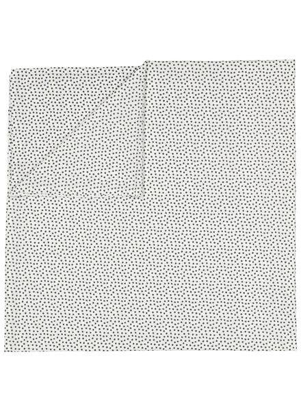 sheet - 200 x 255 - soft cotton - white dots - 5100029 - hema