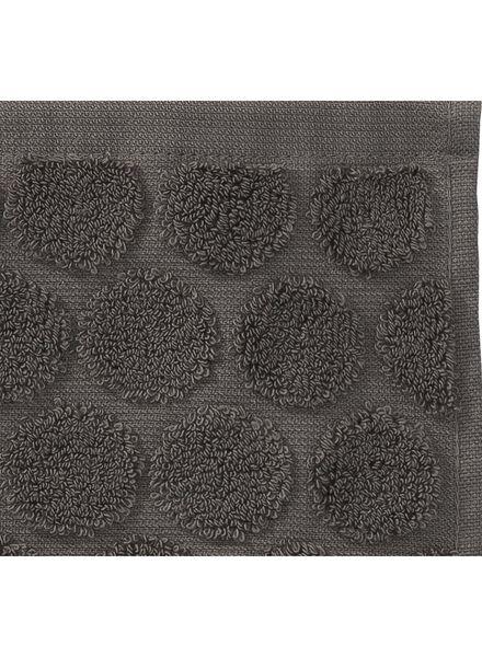 serviette de bain-50x100 cm-qualité épaisse-gris foncé pois gris foncé serviette 50 x 100 - 5240172 - HEMA