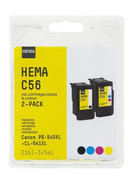 C56 remplace Canon PG-540XL + CL-541XL - 38320003 - HEMA