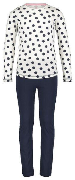 Kinder-Pyjama, Punkte eierschalenfarben eierschalenfarben - 1000020869 - HEMA