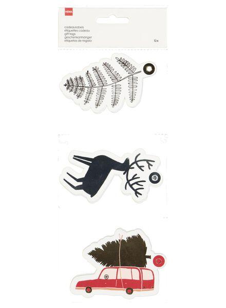 12 Christmas gift tags - 25300273 - hema