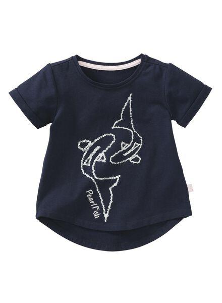 children's T-shirt dark blue dark blue - 1000007422 - hema