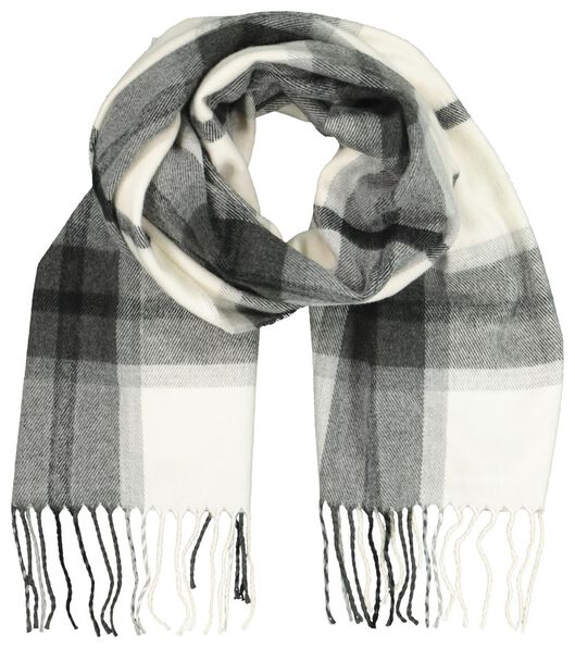 HEMA Damen-Schal, 180 X 60 Cm, Karomuster