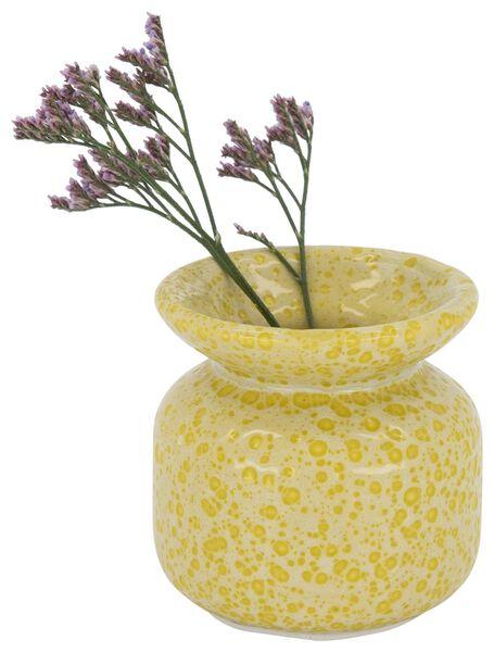 vase - 6.5 cm x Ø 6.5 cm - céramique jaune - 13392118 - HEMA
