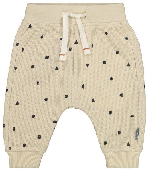 pantalon nouveau-né gaufré beige beige - 1000022310 - HEMA