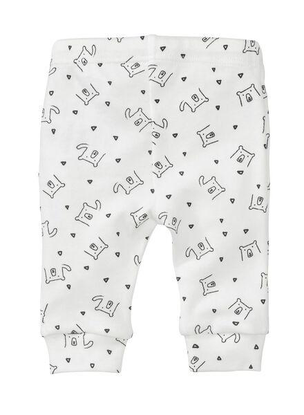 2-pack newborn trousers organic cotton grey grey - 1000005702 - hema