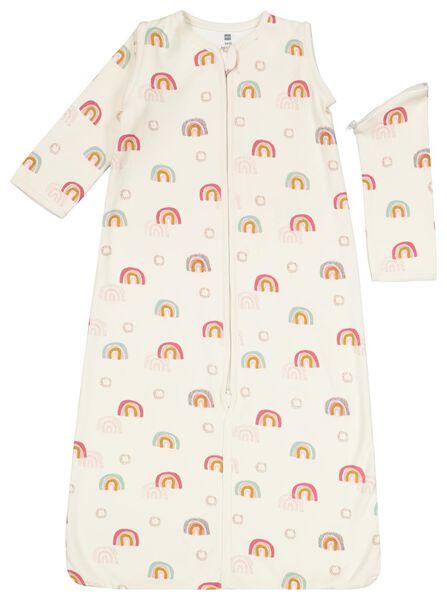 Baby-Schlafsack, ungepolstert, Ärmel abnehmbar, Regenbogen eierschalenfarben 50/62 - 33327221 - HEMA