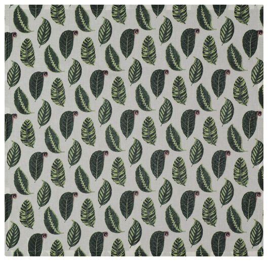 torchon 65x65 feuille vert - 5490032 - HEMA