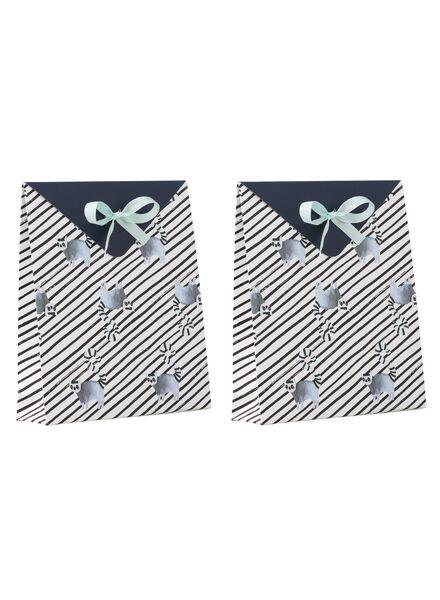 2 small gift bags - 21 x 18 cm - 14700213 - hema