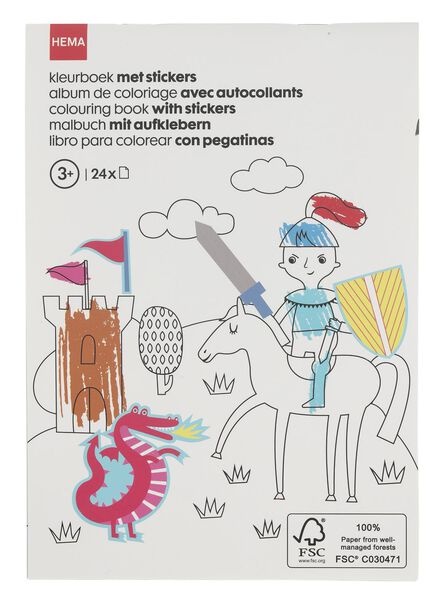 colouring book with stickers A5 - 15910082 - hema