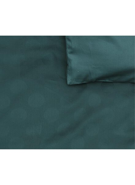 housse de couette-hôtel coton satin-200x200cm-vert pois vert foncé 200 x 200 - 5710048 - HEMA