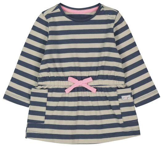 Babykleiderroecke - HEMA Baby Kleid, Streifen Eierschalenfarben - Onlineshop HEMA