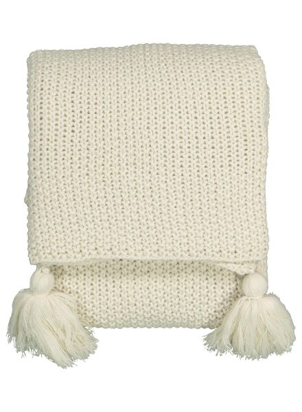 throw knitted - 130 x 150 - natural - 7392009 - hema