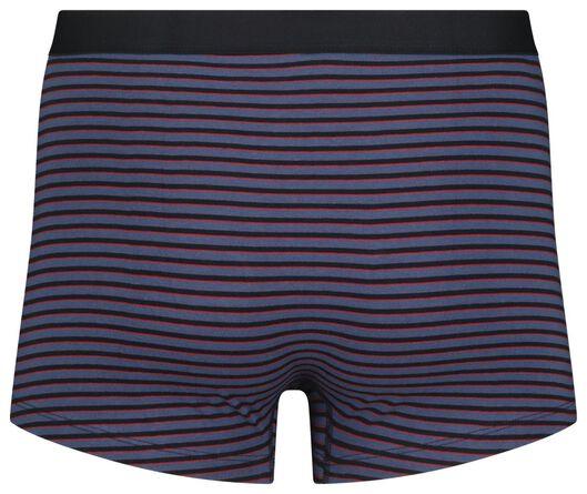 3-pack men's boxer shorts short cotton stretch dark blue dark blue - 1000018788 - hema