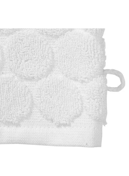 wash mitt - heavy quality - white dot white wash mitt - 5200063 - hema