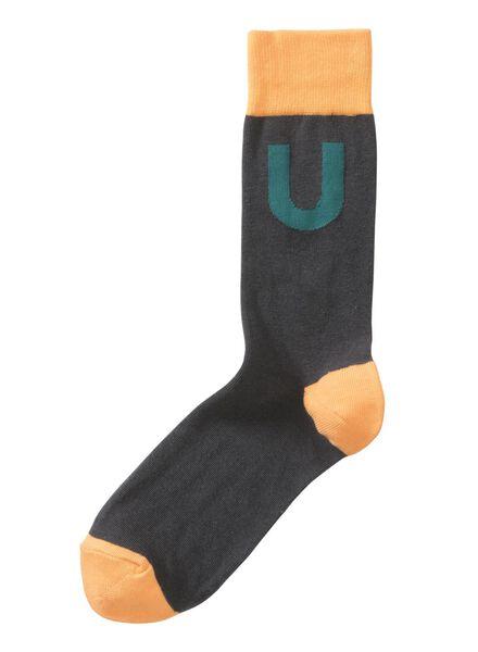alphabet socks size 43/46 grey grey - 1000016227 - hema