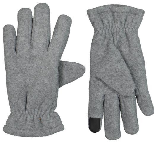 Kinder-Touchscreen-Handschuhe, Fleece graumeliert 122/128 - 16750362 - HEMA
