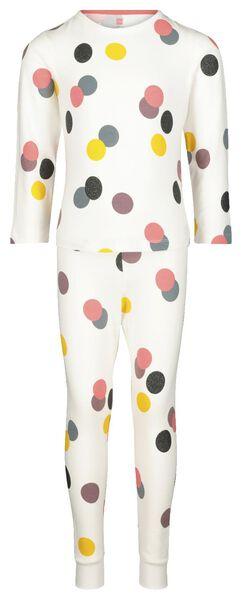 Kinder-Pyjama, Punkte eierschalenfarben 98/104 - 23040602 - HEMA