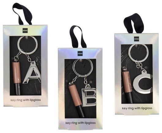 brillant à lèvres avec porte-clés lettre A - 11230140 - HEMA