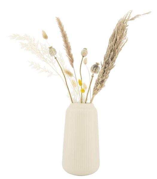 vase Ø16x30 - light grey earthenware - 13322011 - hema