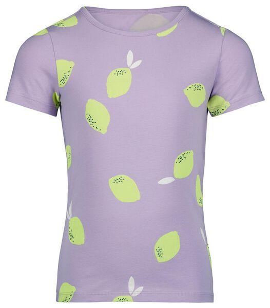 t-shirt enfant citrons lilas lilas - 1000024062 - HEMA