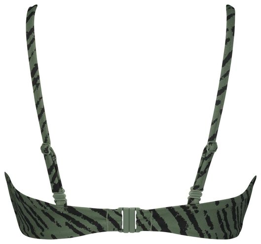 women's bikini top no underwires - zebra army green army green - 1000022860 - hema
