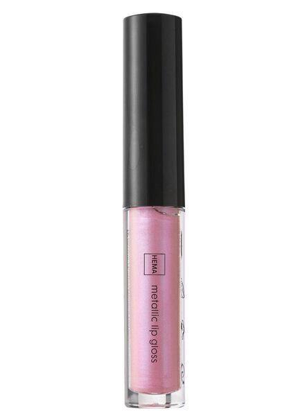 metallic lip gloss gushing pink - 11231101 - hema