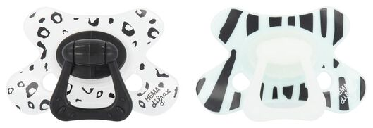 Image of Difrax 2-pack Difrax Pacifiers For 6 Months And Up (white)