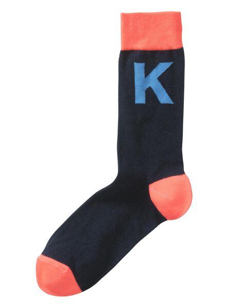 alphabet socks size 39/42 grey grey - 1000016226 - hema