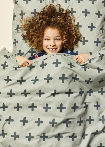 Kinder-Bettwäsche, 140 x 200 cm, Soft Cotton, grün, Plusmuster - 5700196 - HEMA