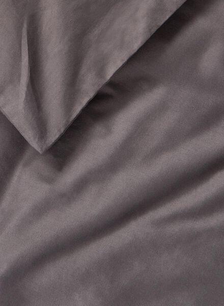 duvet cover - soft cotton - uni dark grey dark grey - 1000014135 - hema