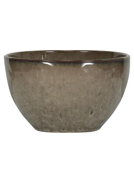 schaal 14 cm - Porto reactief glazuur - earth - 9602040 - HEMA