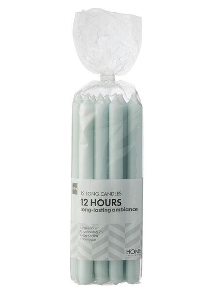 12 bougies d'intérieur vert clair 2.2 x 29 - 13503167 - HEMA