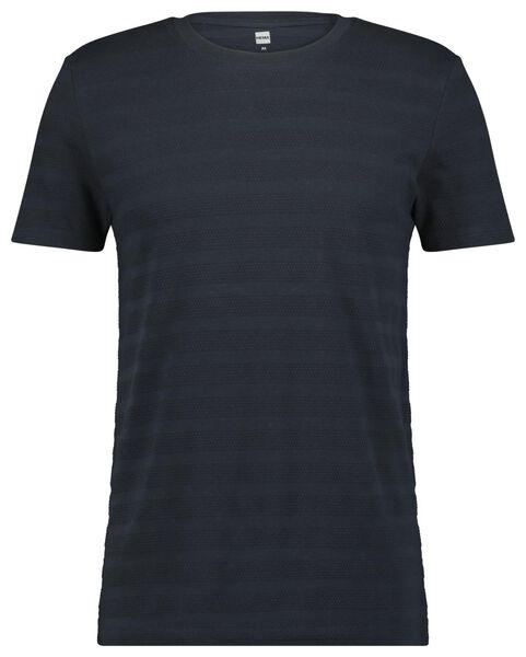 Herren-T-Shirt dunkelblau dunkelblau - 1000023614 - HEMA