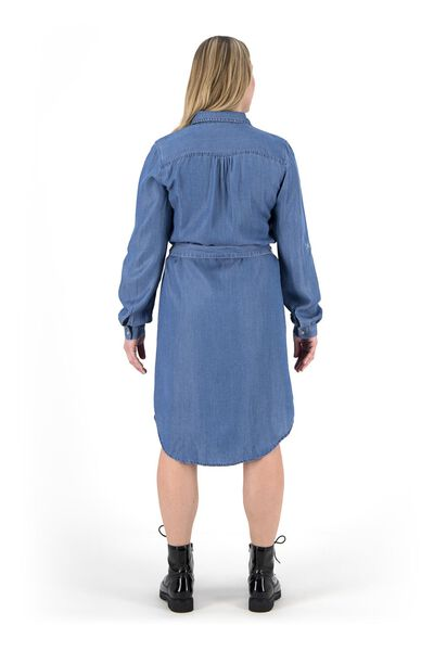 women's dress mid blue mid blue - 1000019346 - hema