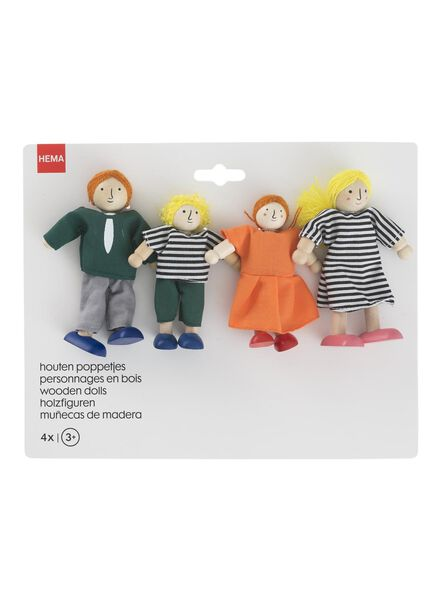 4-pack wooden Christmas hangers - 15122415 - hema