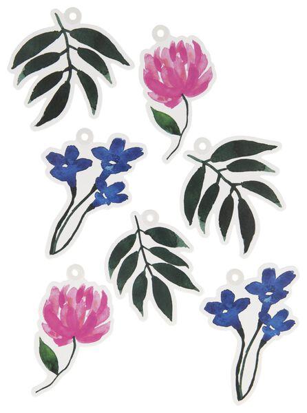 12 étiquettes cadeau fleurs - 14700461 - HEMA